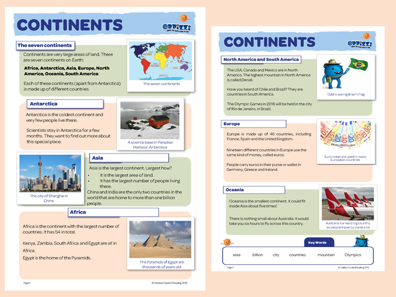 Continents oceans oddizzi year 2 continents sciox Choice Image