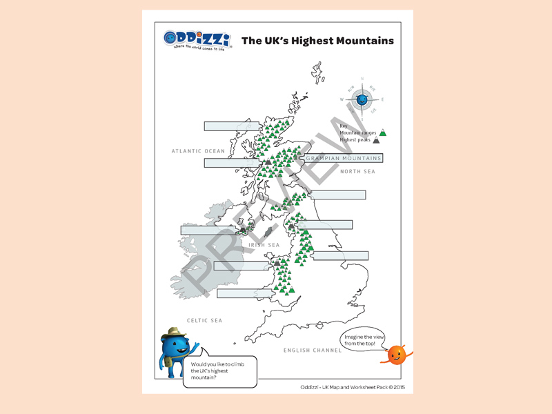 United Kingdom Oddizzi. Locating The Mountains In Uk Preview Download. Worksheet. World Rivers Worksheet At Clickcart.co