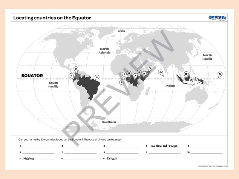 Map skills oddizzi locating countries on the equator preview download gumiabroncs Images