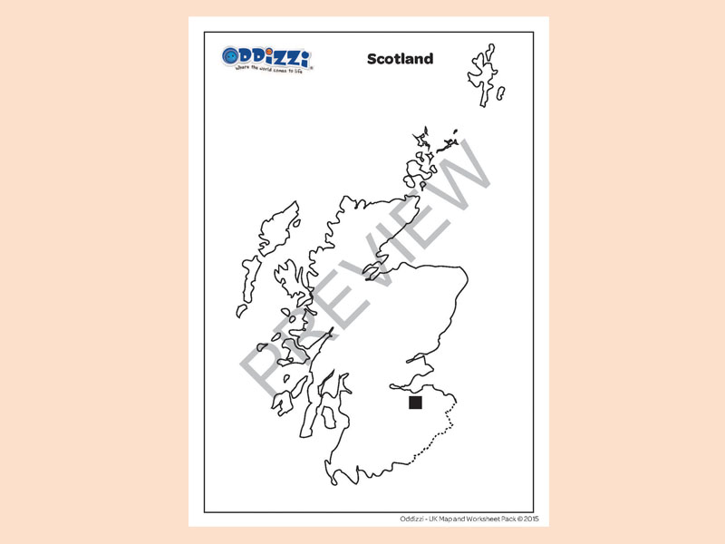 Blank Outline Map Of Scotland: Blank Map Of Scotland Worksheet At Alzheimers-prions.com