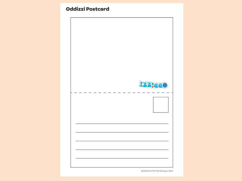 Postcard Writing Template Preview