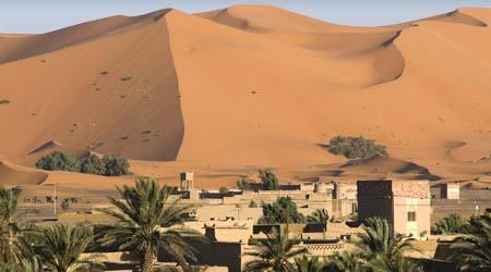 Homes in the desert sahara