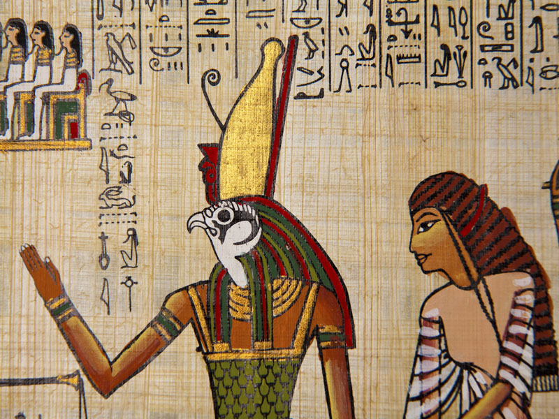Hieroglyphics And Art On Papyrus